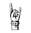 rock and roll or heavy metal hand sign vector image vector image