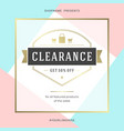 sale banner template design with gold frame and vector image vector image