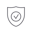 secure shield line icon sign vector image vector image