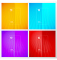 set abstract yellow blue purple red striped vector image vector image