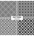 set four rhombuses seamless patterns vector image vector image