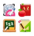 Set of School Equipment Icons vector image vector image