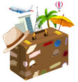 set of travel objects vector image