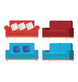 set sofas styles icons vector image