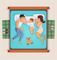 sleeping family top view vector image