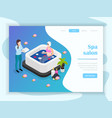 spa salon isometric landing page vector image