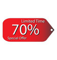 special price tag discount price vector image vector image