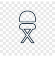 stool concept linear icon isolated on transparent vector image