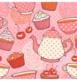 Tea time hand drawn seamless pattern Decorative vector image vector image