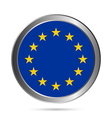The European Union flag button vector image
