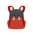 universal backpack icon flat style vector image vector image