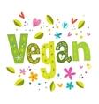 Vegan vector image vector image