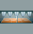 volleyball arena concept banner cartoon style vector image vector image