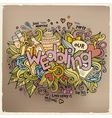 Wedding hand lettering and doodles elements vector image vector image