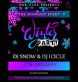 winter party poster with vector image