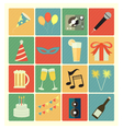 flat icons party vector image