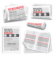 newspaper realistic set vector image