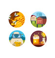 apiary set icons vector image
