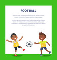 banner with indian boys playing football vector image