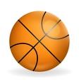 Realistic basketball ball icon sport symbol vector image