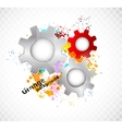 Grunge background with gears vector image