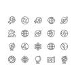 Line Globe Icons vector image