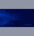 abstract blue technology big data ai background vector image vector image