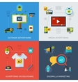 Advertising Set Isolated vector image vector image