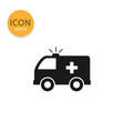 ambulance icon isolated flat style vector image vector image