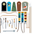 ancient egyptian weapons vector image