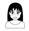 anime girl manga portrait vector image vector image