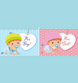 baby boy and girl template vector image vector image
