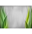 background two side green vector image vector image