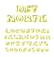 bold modern font and alphabet vector image