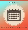 calendar symbol icon vector image vector image