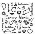 canary islands hand drawn doodle outline summer vector image vector image