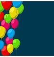 Celebrate background with flat balloons vector image