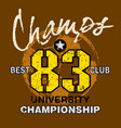 champs best club vector image vector image