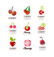 cherry logo design set creative templates can be vector image