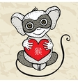 chinese zodiac monkey vector image vector image