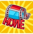 Cinema and movie advertising background in cartoon vector image vector image