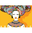 conceptual fashionable ethnic female portrait vector image vector image