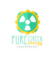 creative pure energy logo original design template vector image vector image