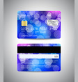 credit cards with colorful blue abstract design vector image vector image