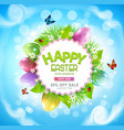 easter sale banner advertising vector image vector image