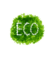 Eco friendly words on green bush vector image vector image
