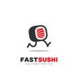 fast sushi logo vector image