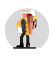 fireman saves the human vector image vector image