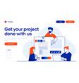 flat modern design teamwork vector image vector image