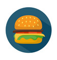 flat style hamburger icon vector image